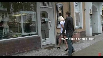 Blonde whore outdoor humiliation