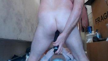 Black guy toying his butt