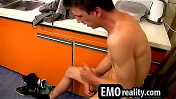 Sexy Twink At Home In The Kitchen Jerking Off