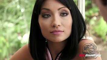 Asian milf fucked by white cock