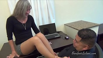 Milf Uses Her Feet to Get a Job Promotion