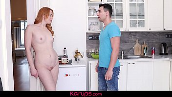 Watch MILF redhead babe Michelle Russo Seduces Younger Man In The Kitchen. preview