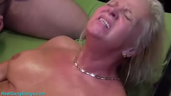 extreme horny big boob 68 years old grandma enjoys her first rough german swinger club fist and fuck bukkake party