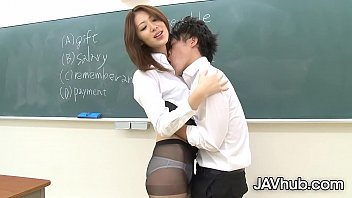 Skinny Japanese woman has her hairy pussy stuffed by a hard cock