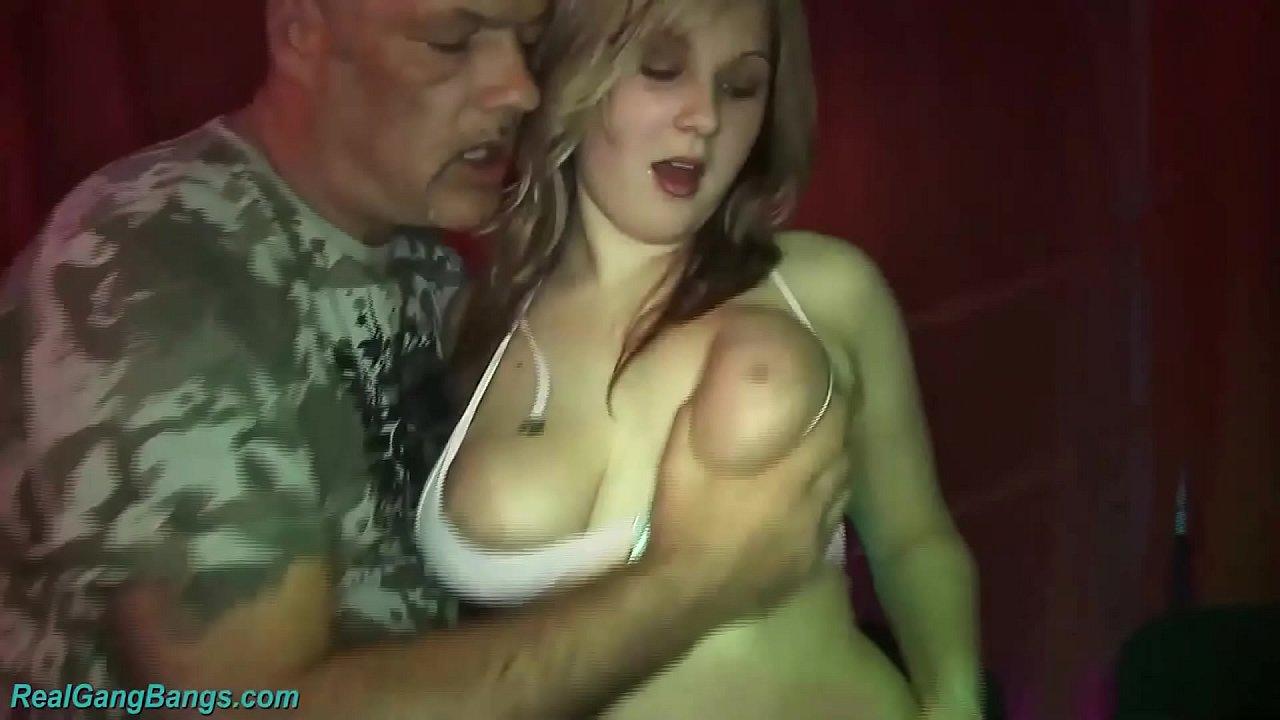 German Blonde Amateur Gangbang