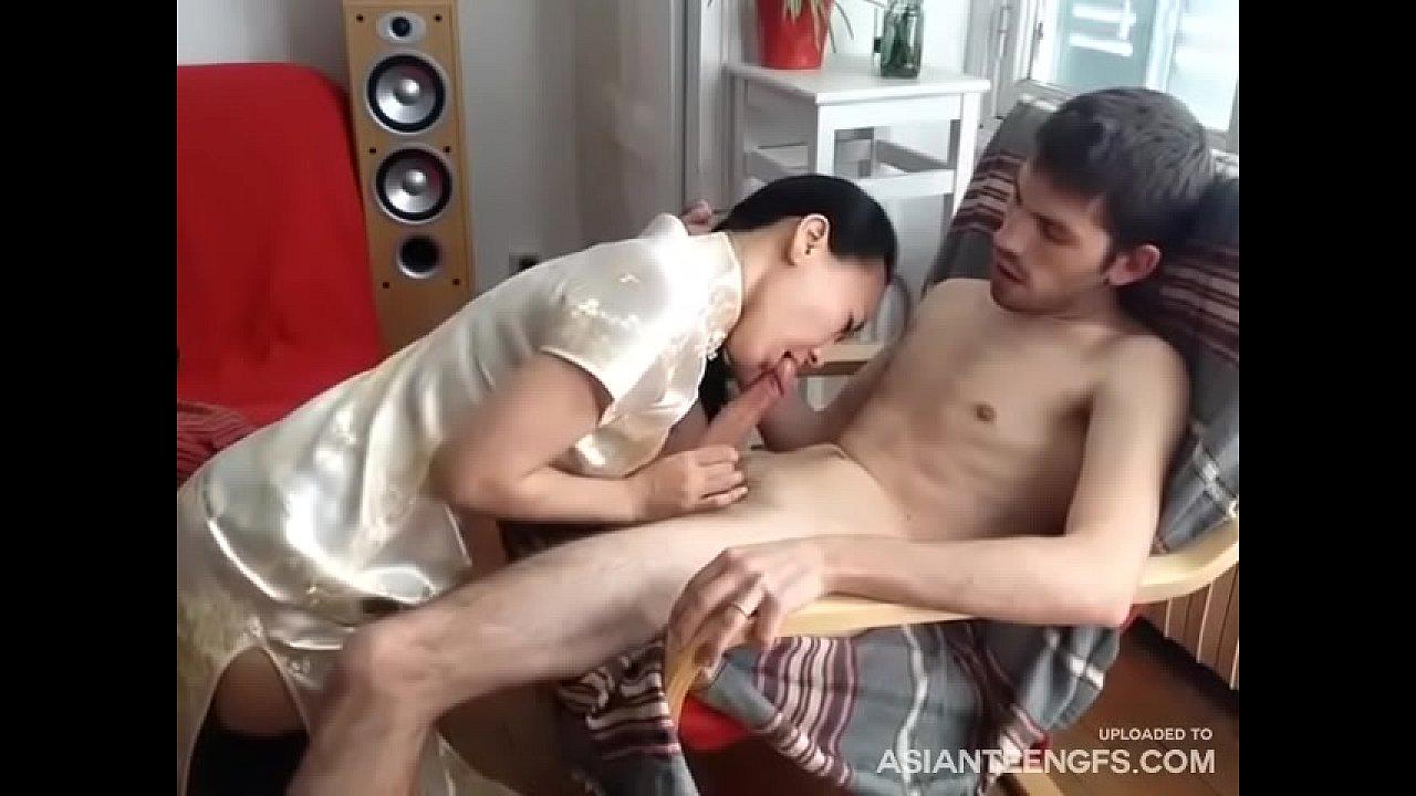 Asian Riding Homemade Porn homemade) asian milf rides cock & gives head on camera