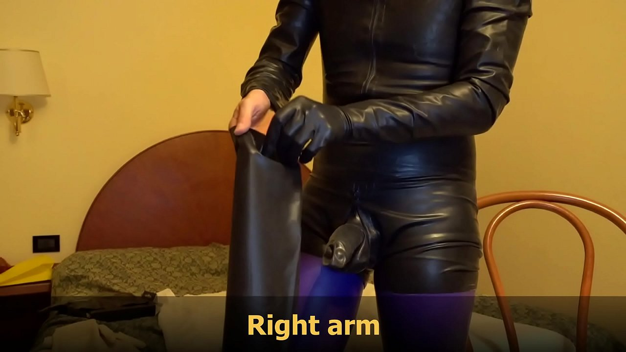 Ama Gloves Porno Xxx unboxing, smell and wear new black rubber long latex gloves