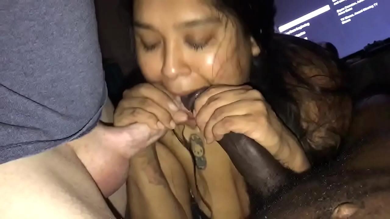 Latina Sloppy Blowjob Swallow