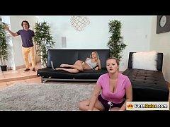 Slut babe Natalia Starr fucks her room mates lover behind her