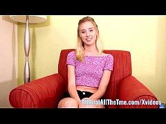 Cute Blonde Teenager Haley Reed Anal Creampie!