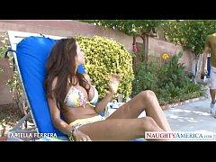 Busty milf Ariella Ferrera take cock outdoors