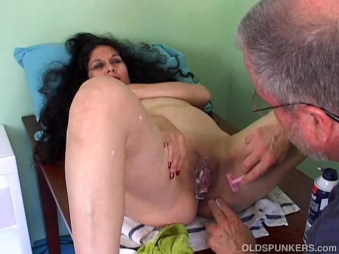 Mature shaved and hairy pussy
