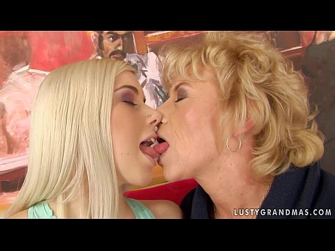 Girls and granny having sex