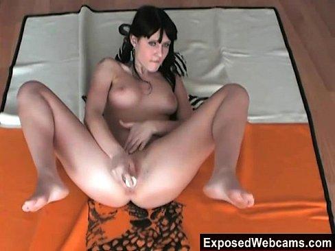 Dark-Haired Emo Slut Masturbating On Webcam
