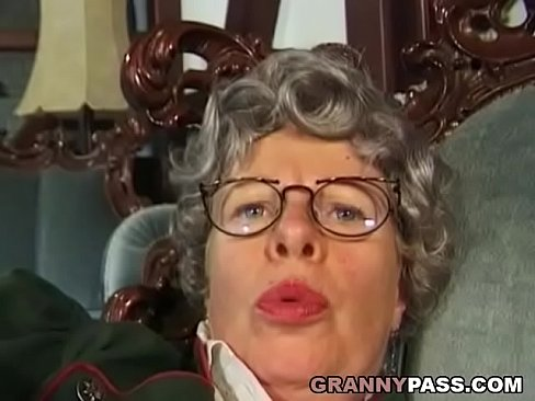 Granny putting finger in her pussy