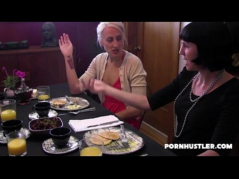 Porn food lesbian with