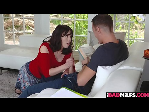 Amber Chase blowjob her step sons cock