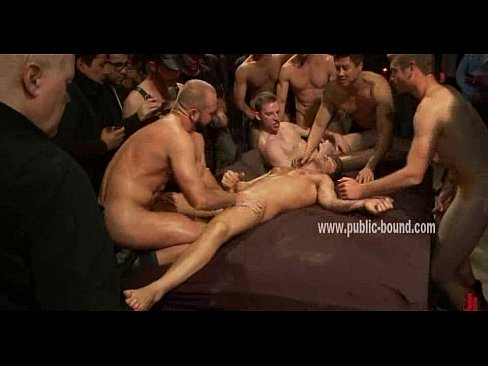 Gay men bound in medieval bondage