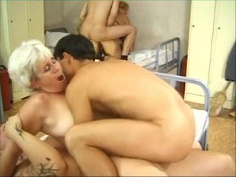 Granny group sex porn