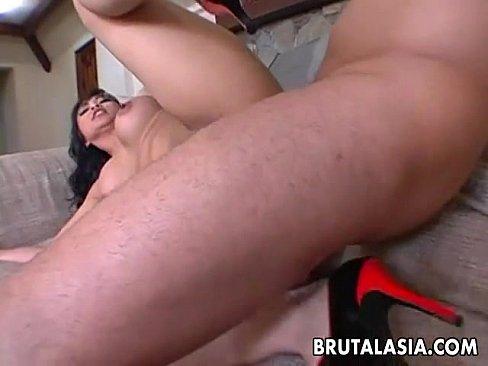 Exciting Asian dolly Mika Tan enjoys rough ass pounding