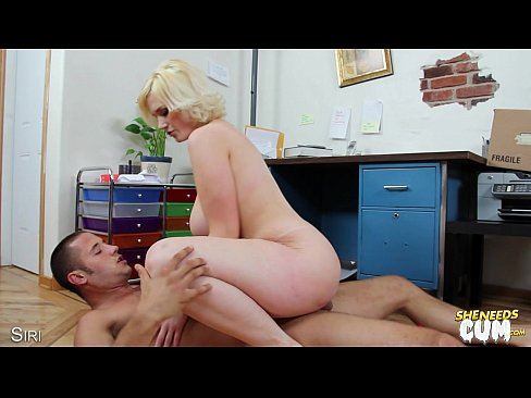 KARINA: Busty blonde siri riding cock