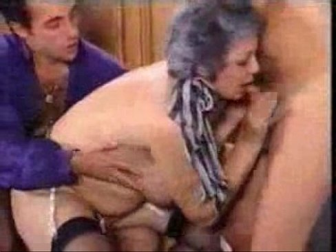 Hairy granny fucking two guys - XNXX COM