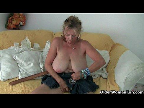 Granny nylon knicker tights masturbation