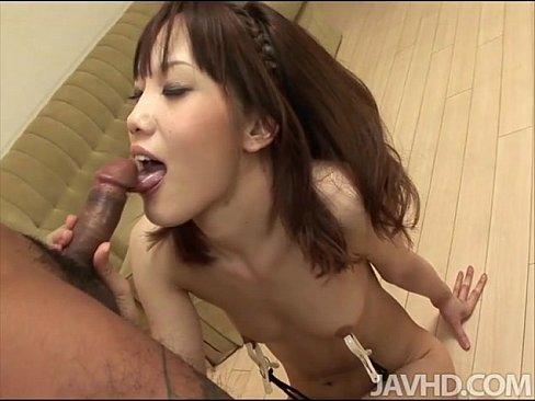 Ageha kinashita rims a hairy ass before she sucks a dick 5