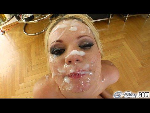Cum cover her face