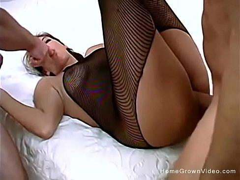 Milf slut takes two dicks