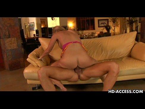Blonde handjob porn