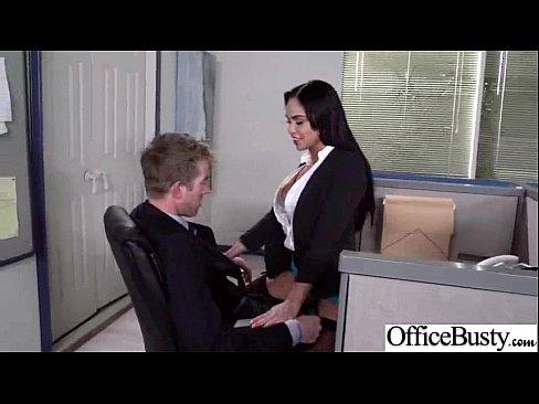 big girl in man office fucking breast