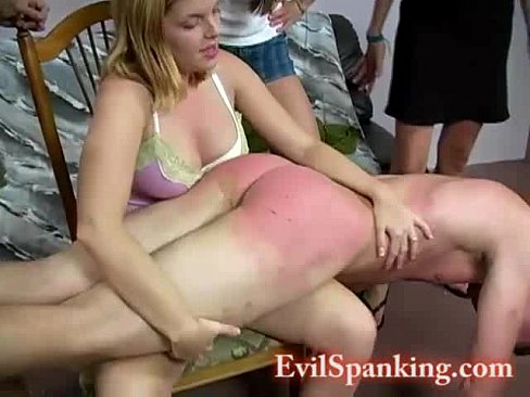 Bold girls spank men