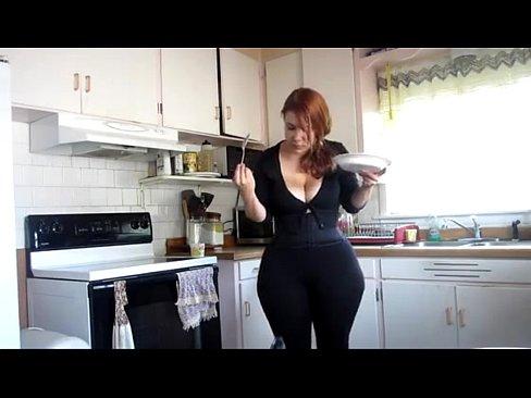 mature kitchen in ass woman Big