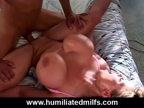 Amateur milf skull fucked by black cock