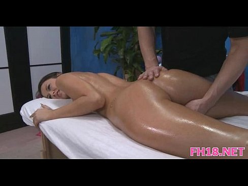 Gorgeous 18 year old slut gets a massage and a hard fucking