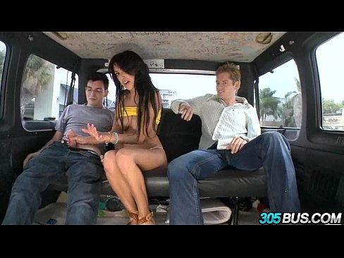 Hottest brunette pornstar Breanne Benson takes two dicks 1.6