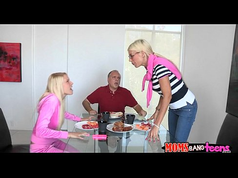 Divine 3some with a hot older - Moms Bang Teens scene