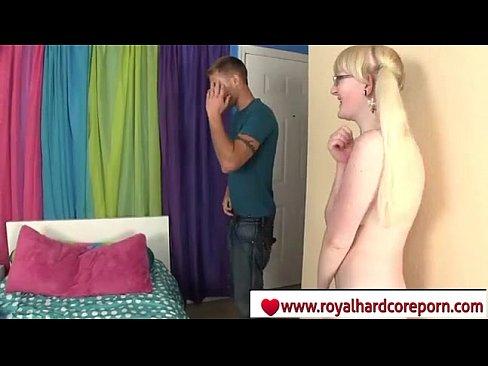 Blonde nerd girl with glasses hardcore - www.royalhardcoreporn.com