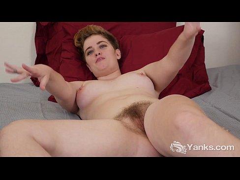 hairy busty wife masturbates