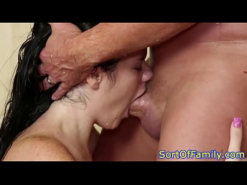gagging on cock amateur threesome