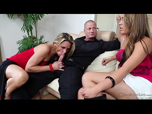 Amanda Blow, Ella Milano Share A Cock
