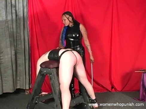 Ebony mistress white slave
