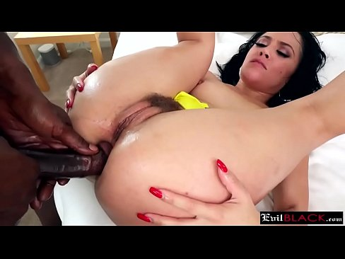 Useful stunning brunette and black cock