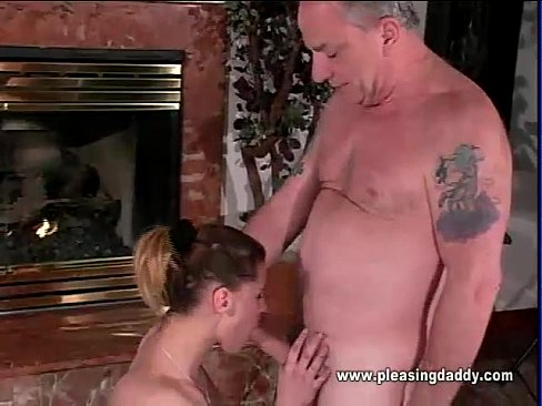 Old cock blowjob