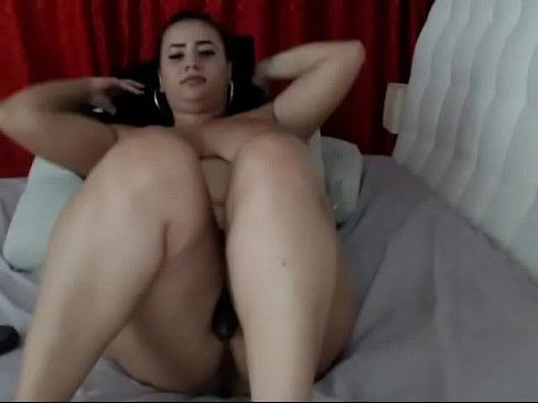 Creamy Pussy Huge Dildo