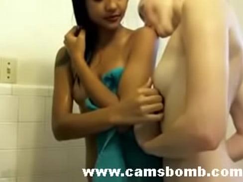 Lesbian girls showering
