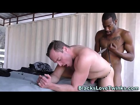 Interracial Twink Spit Roast