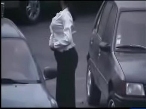 In women car pissing