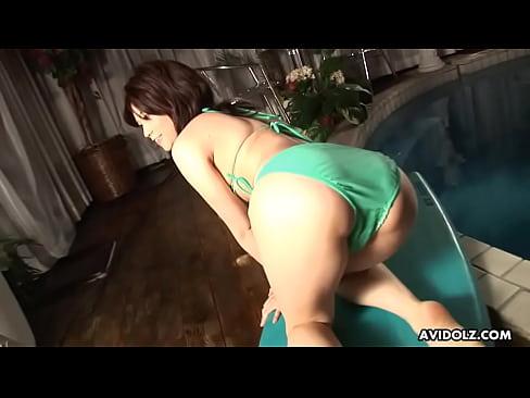 Asian babe toy fucked
